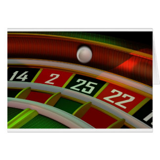 Roulette Rulet Casino Game Greeting Card