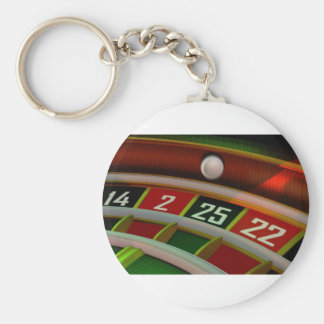 Roulette Rulet Casino Game Basic Round Button Key Ring