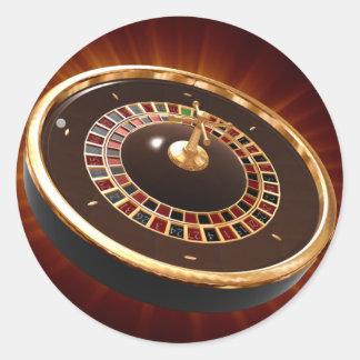 roulette round sticker