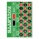 Roulette Table - Casino Gamble To Win Note Card