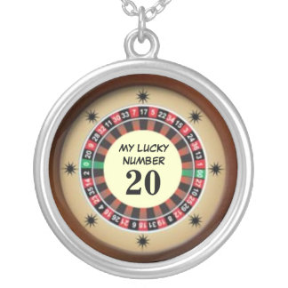 Roulette Table Lucky Number Silver Plated Necklace