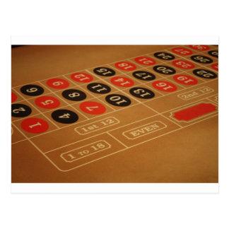 Roulette Table Postcard