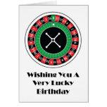 Roulette Wheel Birthday Card