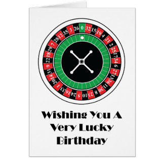 Roulette Wheel Birthday Card