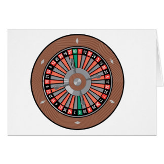 Roulette Wheel - Casino Play To Win Note Card