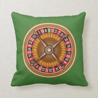 Roulette Wheel custom throw pillow