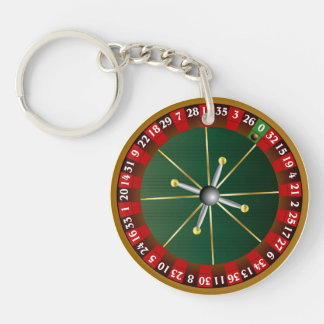 Roulette Wheel Double-Sided Round Acrylic Key Ring