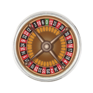 Roulette Wheel lapel pin