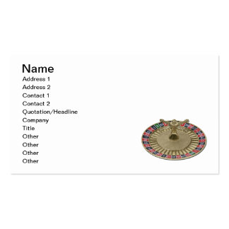 Roulette Wheel Pack Of Standard Business Cards