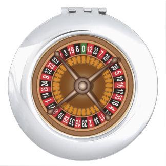Roulette Wheel pocket mirror Makeup Mirror