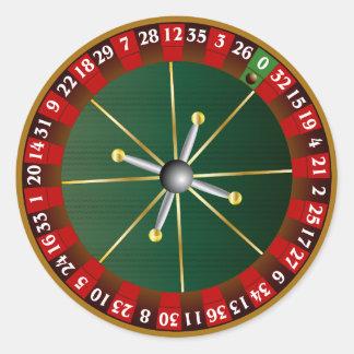 Roulette Wheel Round Sticker