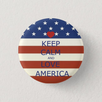 Round 4th of July Button