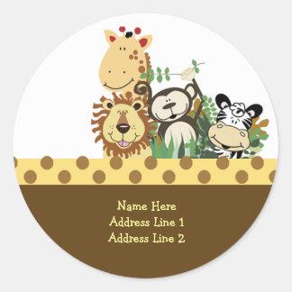 Round Address Labels ZOO CREW STICKERS