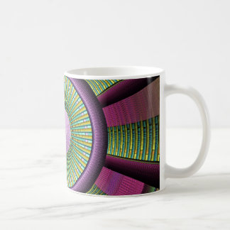 Round And Colorful Modern Decorative Fractal Art Coffee Mug