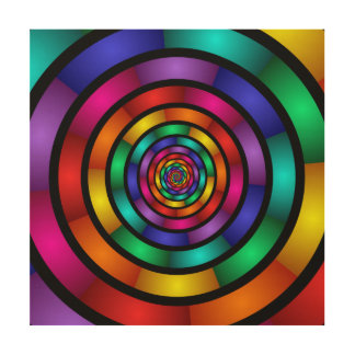 Round and Psychedelic Colorful Modern Fractal Art