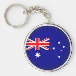 Round Australia Key Chain