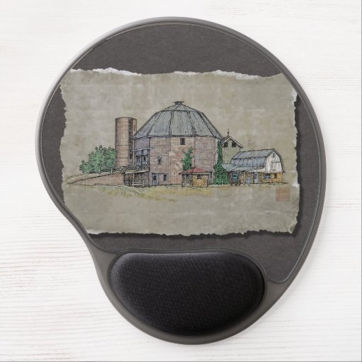 Round Barn Gel Mouse Mat
