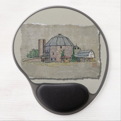 Round Barn Gel Mouse Mats