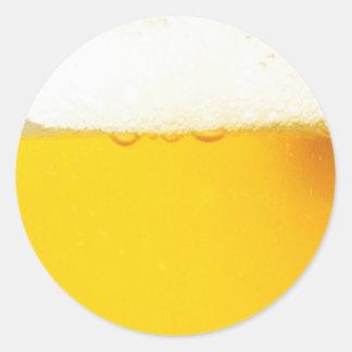 Round Beer Sticker