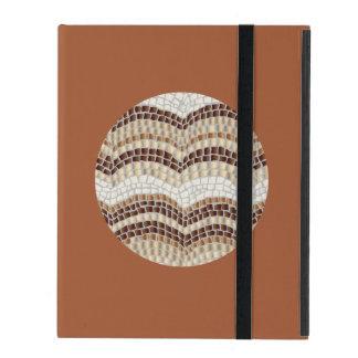 Round Beige Mosaic iPad 2/3/4 Case