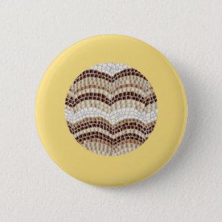 Round Beige Mosaic Standard Round Button