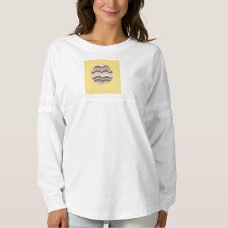 Round Beige Mosaic Women's Spirit Jersey T-Shirt