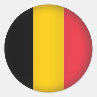 Round Belgium Classic Round Sticker