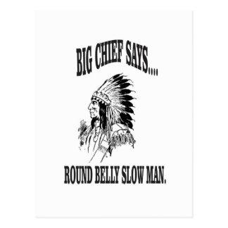 round belly slow man bc postcard