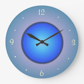 Round Blue/Aqua>Wall Clock