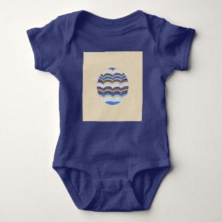 Round Blue Mosaic Baby Jersey Bodysuit