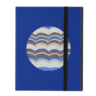 Round Blue Mosaic iPad 2/3/4 Case