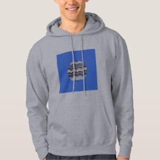 Round Blue Mosaic Men's Hooded Sweatshirt