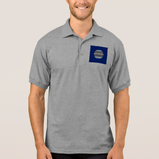 Round Blue Mosaic Men's Polo Shirt