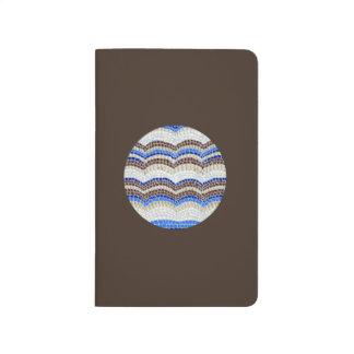 Round Blue Mosaic Pocket Journal
