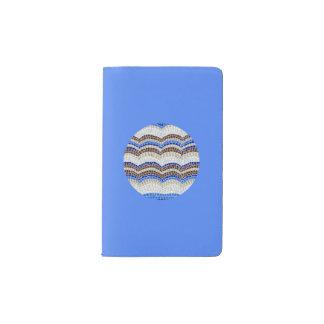 Round Blue Mosaic Pocket Notebook