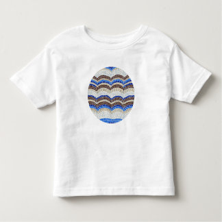 Round Blue Mosaic Toddler T-Shirt