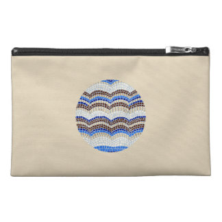 Round Blue Mosaic Travel Accessory Bag