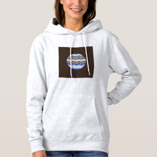 Round Blue Mosaic Women's Hooded Sweatshirt
