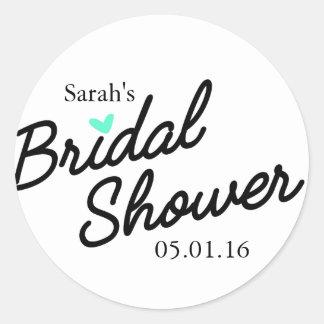 Round bridal shower sticker