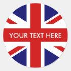 Round British Union Jack stickers   envelope seals