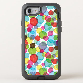 Round bubbles kids pattern 2 OtterBox defender iPhone 8/7 case