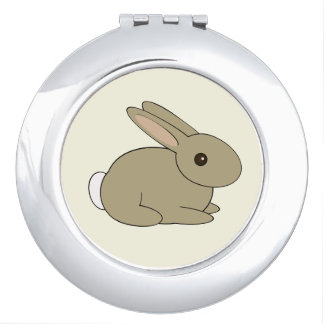 Round Bunny Mirror Compact Mirrors
