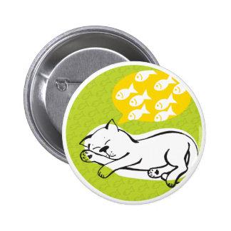 round button Cat dreams Pinback Button
