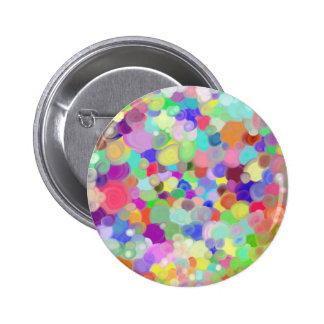 round button with tempera paints