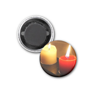 Round Candle Magnet Red Yellow