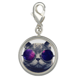 Round Charm, Silver Plated