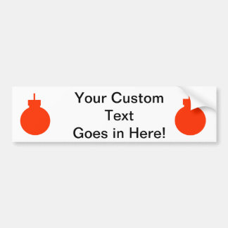 round christmas ornament red.png bumper sticker