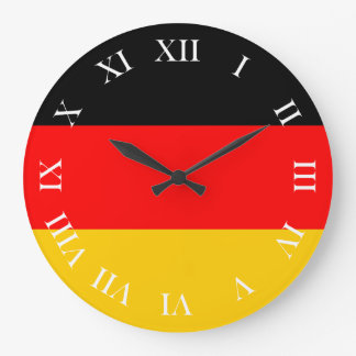Round clock Roman numbers Germany flag