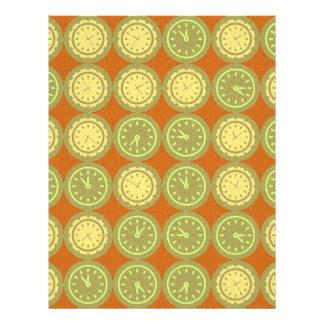 Round clocks pattern 21.5 cm x 28 cm flyer