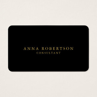 Round Corner Black Gold Professional Trendy Business Card